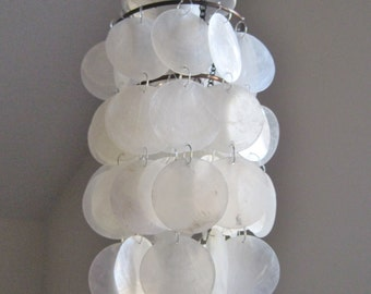 Seaside Collection White/Natural Capiz Flushmount Shade Only MADE TO ORDER
