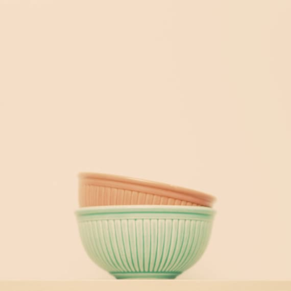 gift under 50 Vintage kitchen bowl photograph 8x8 kitchen fine art chef decor mod wall art retro kitchen decor orange mint green pink