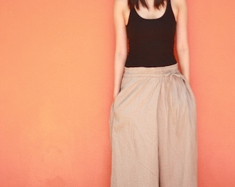 SALE25%OFF--B046--Nice Cotton pants with pleats
