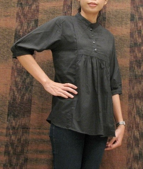 SALE 15% + FREE SHIPPING--S096--Less is more (Blouse)