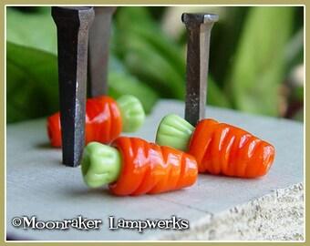 Carrot Lampwork Bead