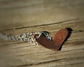Copper Heart Necklace with Sterling Silver Chain
