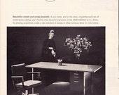 1963 ad All-Steel 2500 Design office furniture desk chair Mad Men era midcentury modern secretary wall decor for framing - Free USA shipping
