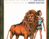 1991 book Androcles and the Lion and Other Aesop's Fables in verse by Tom Paxton art by Robert Rayevsky kids moral lessons -Free US shipping