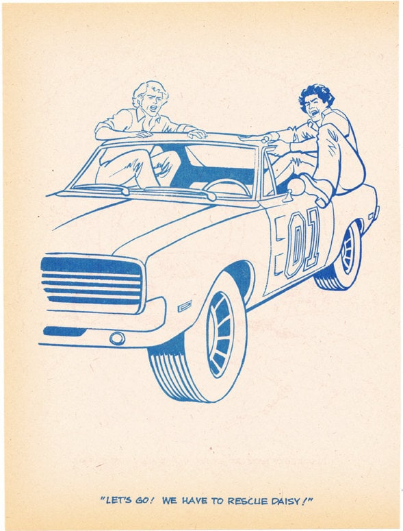 Coloring Book Page Dukes Of Hazzard Angry Jump Into General Color Page Dukes Of Hazard General