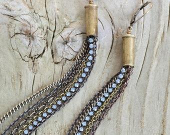 G.I. Jane - Turquoise Rhinestone Bullet Earrings