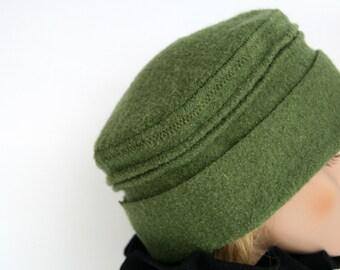 wool hat  cap  bonnet  green kiwi cord slouch