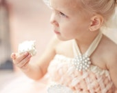 As seen on Wedding Chicks, Peach Sweet Sophistication Empire Tutu Dress, Flower Girl Dress