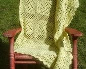 10 AM Sharp - Crochet Throw Blanket PDF Pattern