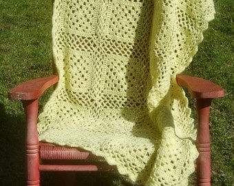 10 AM Sharp - Crochet Throw Blanket PDF Pattern