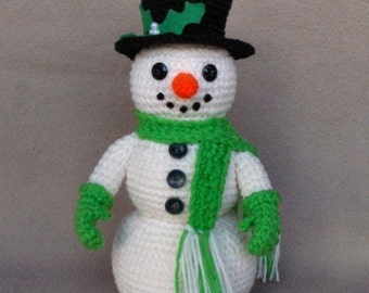 Holiday Snowman -  Crochet Pattern