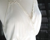 Reserved for Morgan. Vintage 1930's unworn wedding bridal beyond the boudiour goddess bias rayon gown Yolande bust 38-40