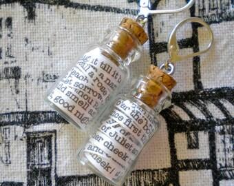 Romeo and Juliet in a Jar Earrings