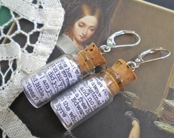 Jane Eyre in a Jar Earrings