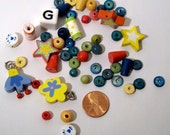 Tatiri Beads - 45 Playful Wooden Beads and 5 Charms