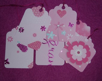 Recycled Gift Tags - Set of 6 - Pretty In Pink