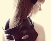 A Delicate Mask Fine Art Print--Halloween Little Girl Mask Black Bow Dramatic Photograph Wholesale