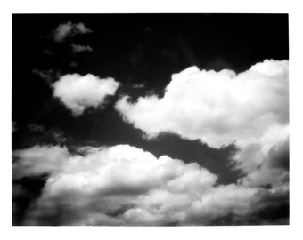 Cloud Study Black and White Fine Art Print--Cloudy Sky Home Decor Wholesale