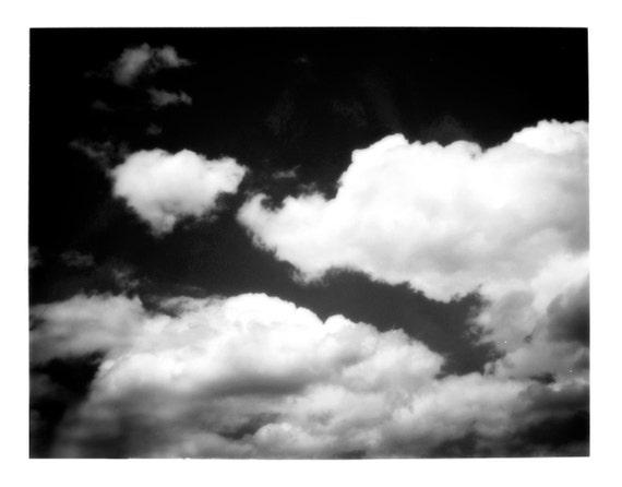Cloud Study Black and White Fine Art Print--Cloudy Sky Home Decor Wholesale