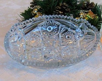 CUT CRYSTAL DISH likely 1930s