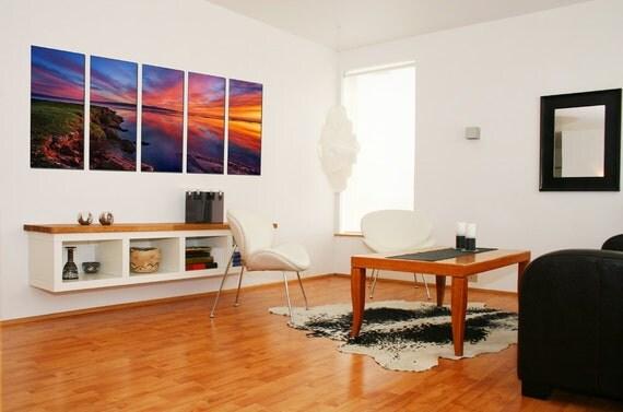 Canvas Prints - Beach Canvas Art  -Beach Photo Canvas - Sunset Wall Decor - Framed Ready to Hang - Seascape Theme Decor