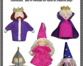 Royal Court Finger Puppets PDF Sewing Pattern