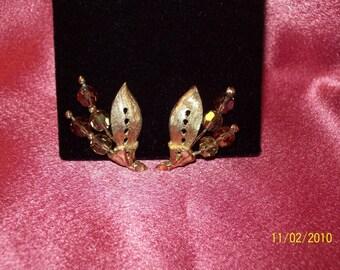 Vintage Champagne Aurora Borealis Earrings