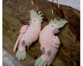 Vintage PINK COCKATOO Earrings