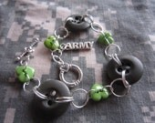 Military Button Bracelet Hearts Apart  I love my Soldier Bracelet