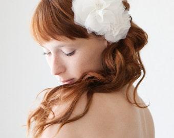Bridal Hair Comb, Wedding Headpiece, Floral Hair Comb, Bridal Headpiece, Silk Flower Comb, Wedding Headpiece, Hair Comb - Morning Blossom