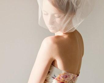 Birdcage Veil, Pink Blusher Veil, Tulle Veil, Bridal Veil, Wedding Veil, Short Veil, Modern Veil, Blush Pink Veil - Touch of Sweetness