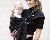Baby Carrier RIng Sling Baby Sling -Jet Black -FAST SHIPPING Insructional DVD Included