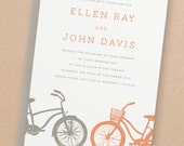 Printable Wedding Invitation Template   INSTANT DOWNLOAD   Bicycles   Word or Pages   Easy DIY   Editable Artwork Colors