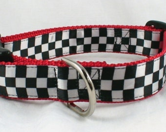 Checkered Flag Dog Collar