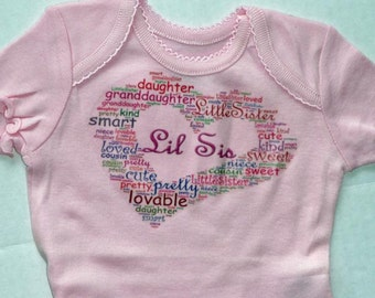 Personalized Custom Bodysuit Word art