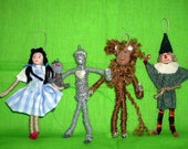 Wizard of Oz Christmas Ornaments Set of 9 Hand crafted
