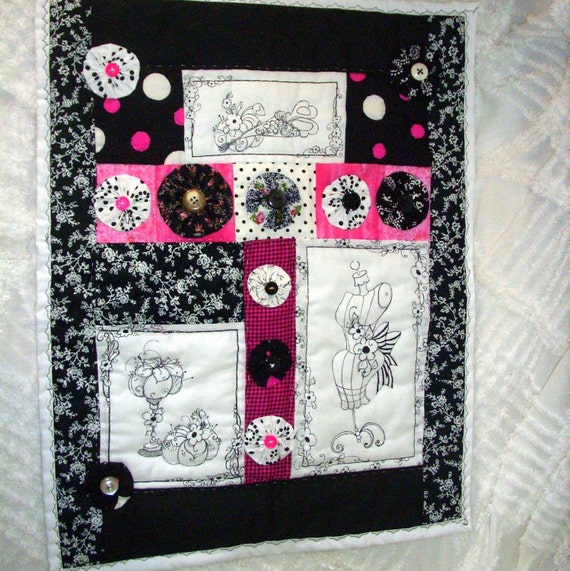 Quilting Room Wall Decor : French sewing room quilt handmade pink by nauticalflairdesigns