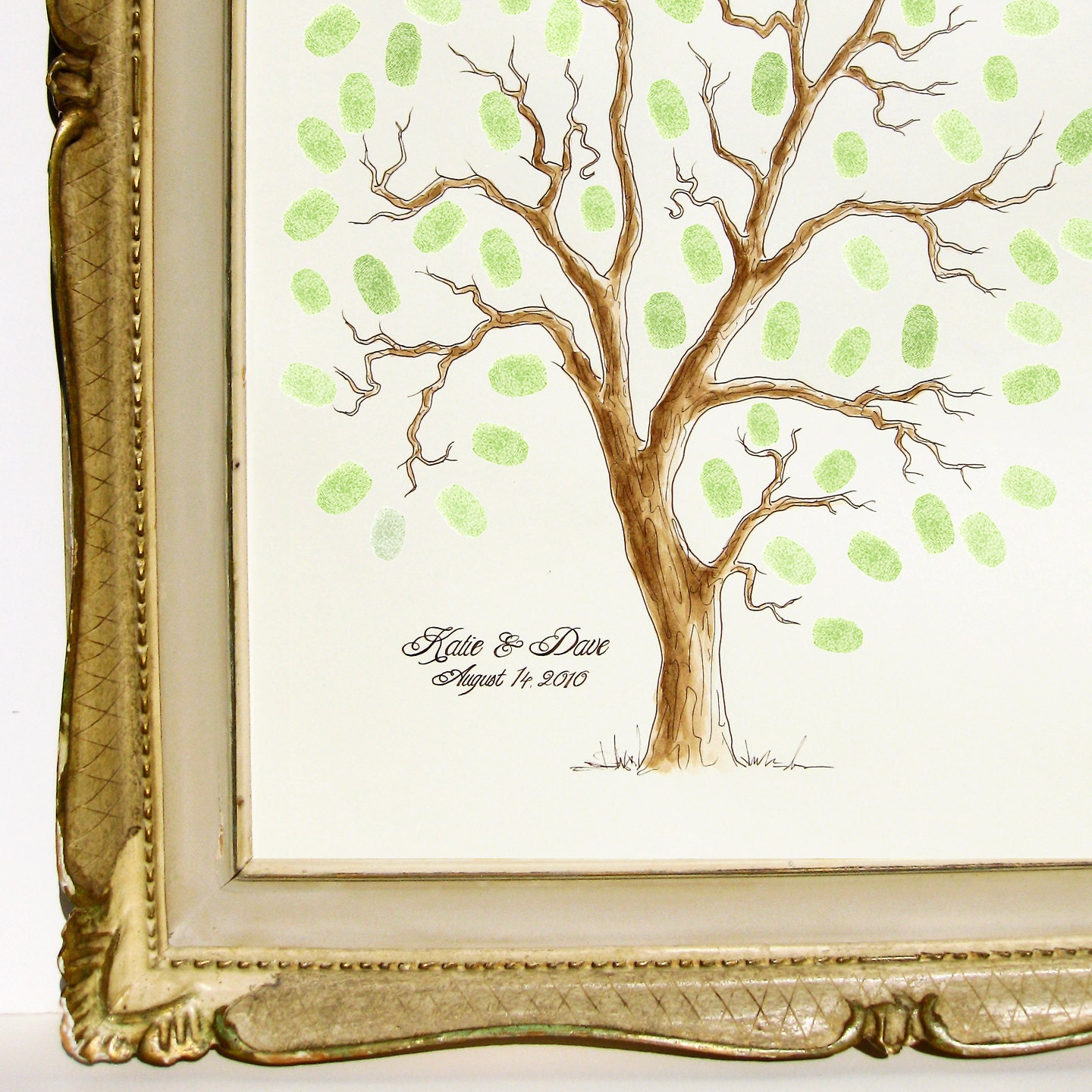 Wedding Tree Genealogy Chart By Melangeriedesign On Etsy: MEDIUM Wedding Tree Guest Book Family Tree 16 X 20
