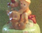 Leprechaun Wind Up Musical Vintage 70s Gnome St.Patricks Day Figurine Cute Whimsical Irish Ireland magical disney song Music Box  Gift