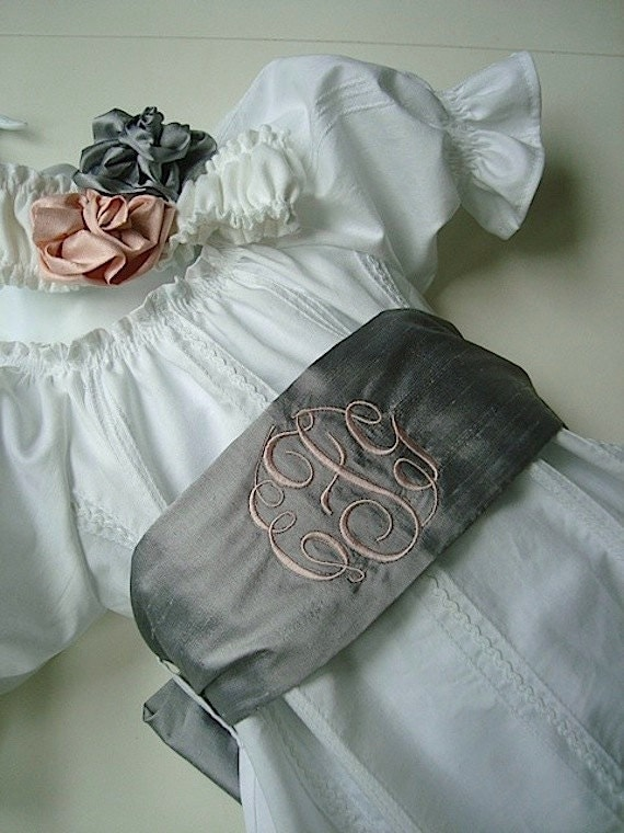 Private Listing for Allison Wedding  Flower Girl Sash    Choose colors