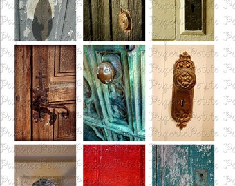 Old Doorknobs Digital Download Collage Sheet 3.5 x 2.25