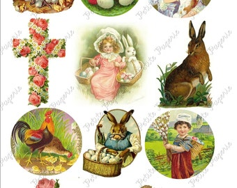 Vintage Easter Digital Download Collage Sheet B