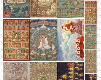 Buddha Digital Download Collage Sheet