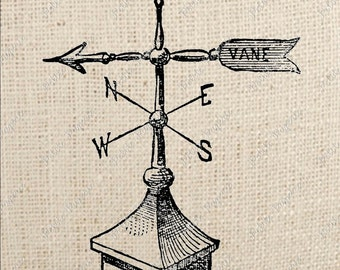 Weather Vane Digital Download or Iron on Transfer