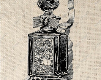 Perfume Bottle Digital Download for Iron on Transfer