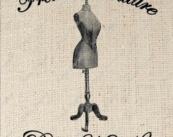 Dress Form Digital Download Iron on Transfer French Couture