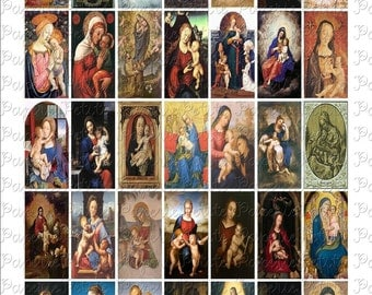 Madonnas Virgin Mary Digital Download Collage Sheet 1 x 2