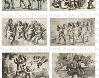 Cherubs Angels Digital Download Collage Sheet
