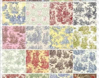 Toile Prints Digital Collage Sheet 2 x 2 inch