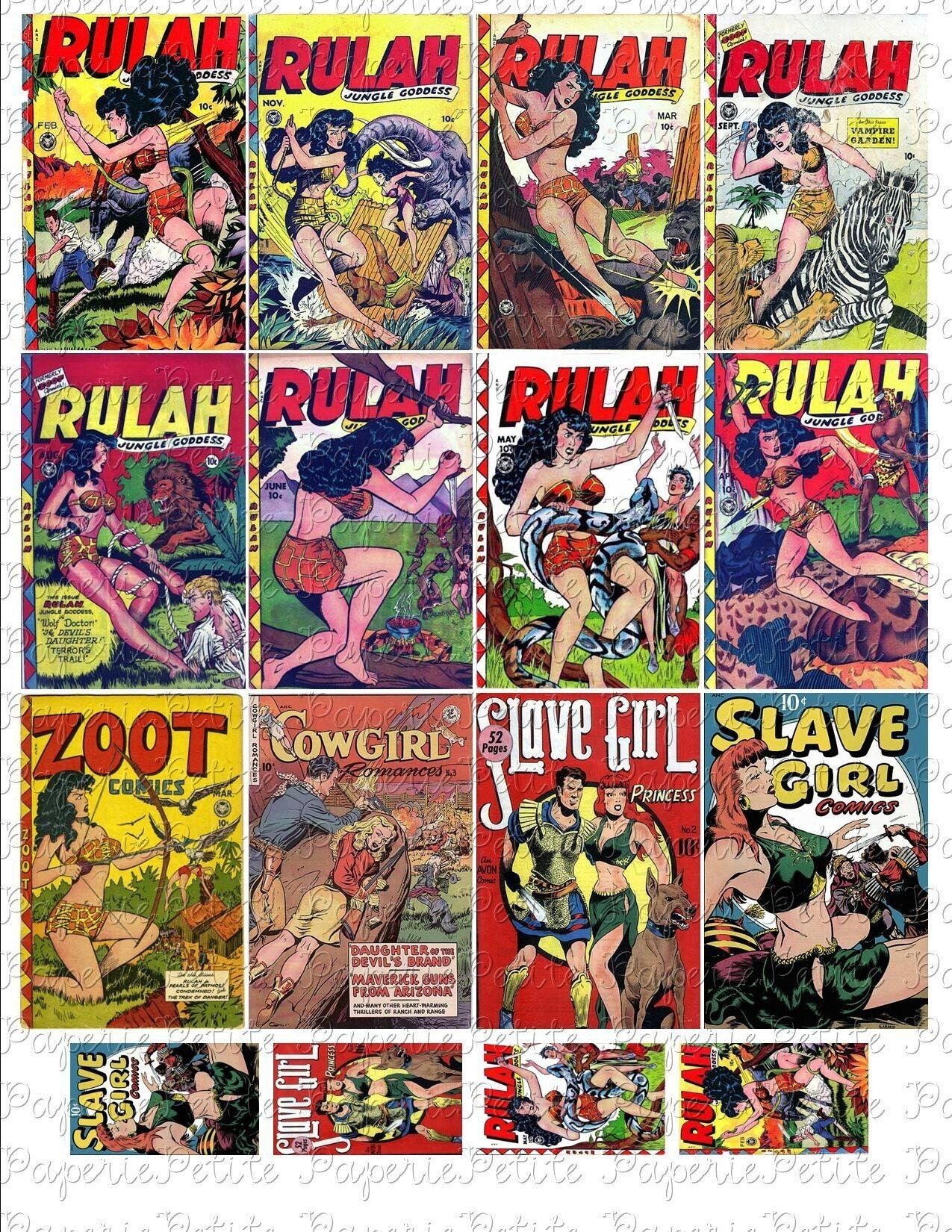 Comic Book Cover Collage : Rulah comic book covers digital download collage sheet a